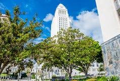 修造在洛杉矶,加利福尼亚的正式状态 安赫莱斯市政厅los 库存图片