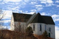 修造在17世纪英国国教建筑风格教会中部  库存图片