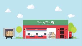 修造外部邮局平的设计  免版税库存照片