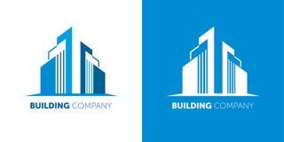 修造的公司商标 不动产公司和上门服务的现代商标 向量例证