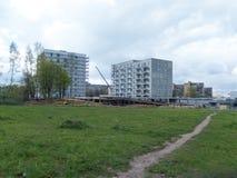 修造的新房在维尔纽斯 库存照片