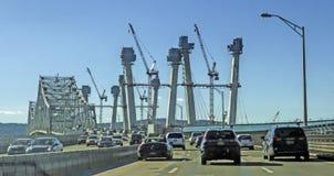 修造的新的Tappan Zee桥梁 免版税库存照片
