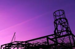 修造的钢粱建设中 免版税库存图片
