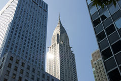 修造纽约的克莱斯勒 免版税库存图片