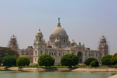 修造维多利亚纪念品的地标在加尔各答或加尔各答, Indi 图库摄影