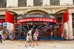 修造考文垂街伦敦英国的Trocadero 库存照片