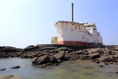 修造被塑造象一艘大船 库存照片