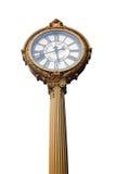修造金黄时钟在纽约,裁减路线的第五大道 库存图片
