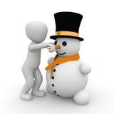 修造雪人 免版税图库摄影