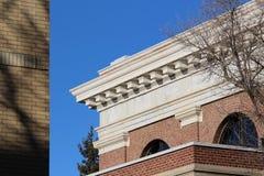 修造雷日纳屋顶线加拿大 库存图片