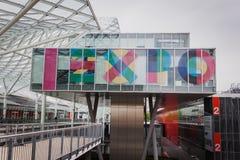 修造主持Solarexpo 2014年在米兰,意大利 免版税库存图片