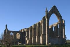 修道院伯勒屯山谷英国约克夏 库存照片