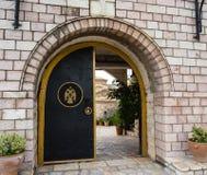 修道院入口 免版税库存照片