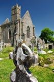 修道院古老教会爱尔兰横向破坏风景 图库摄影