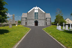 修道院古老教会爱尔兰横向破坏风景 免版税库存照片