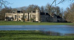 修道院国家(地区)创建了狐狸家庭房子lacock中世纪老摄影先驱talbot 库存图片