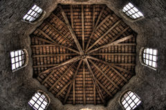 修道院圆顶内部 免版税图库摄影