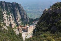 修道院圣塔玛丽亚de蒙特塞拉特岛,卡塔龙尼亚,西班牙。 免版税图库摄影