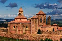 修道院圣玛丽亚de Poblet 库存图片