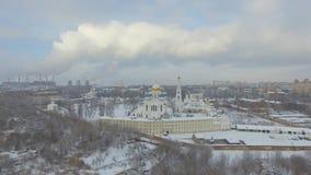 修道院在冬天 影视素材