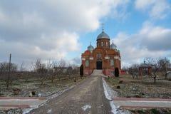 修道院在奥廖尔州地区在Dolzhansky区 图库摄影