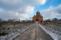 修道院在奥廖尔州地区在Dolzhansky区 库存照片