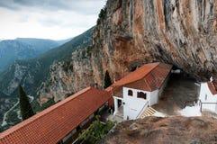 修道院在希腊 免版税库存照片