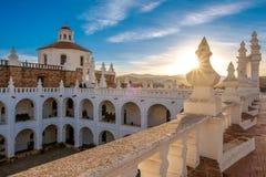 修道院在苏克雷,玻利维亚 免版税库存照片