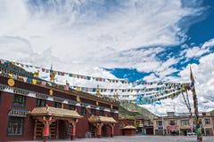 修道院在藏东 免版税库存照片