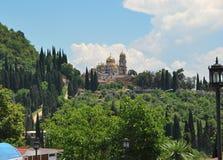修道院在阿布哈兹 免版税库存照片