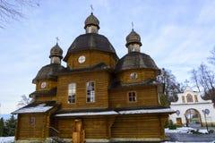修道院在Krekhiv,在利沃夫州附近的乌克兰 免版税库存照片