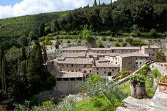 修道院在Le Celle 意大利 免版税库存图片