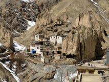修道院在Leh,拉达克 免版税库存图片