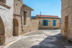 修道院在Omodos在塞浦路斯 免版税库存图片