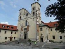 修道院在Tyniec 免版税库存图片