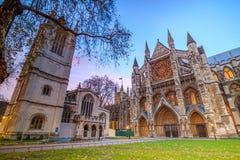 修道院大教堂在伦敦,英国 库存照片