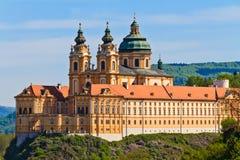 修道院奥地利巴落克式样著名melk stift 图库摄影
