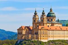 修道院奥地利巴落克式样著名melk stift 免版税图库摄影