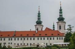 修道院布拉格strahov 从布拉格城堡的看法在布拉格 免版税库存照片