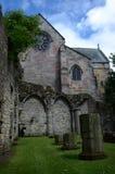 修道院废墟和教会 免版税库存照片