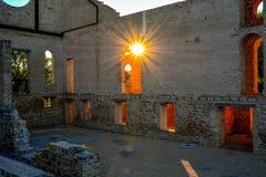 修道院废墟 图库摄影