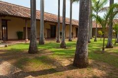 修道院庭院在格拉纳达 免版税库存照片