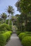 修道院庭院, Tresco,锡利群岛,英国 免版税库存图片