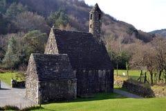 修道院教会在Glendalough 库存图片