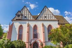 修道院教会的前面在布隆贝格 库存图片