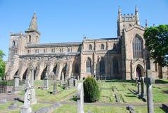 修道院教会dunfermline视图 库存图片
