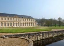 修道院法语查阅 库存照片