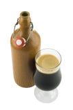 修道院淡啤酒比利时人玻璃 库存图片
