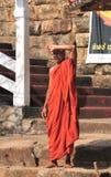 修道院的和尚 库存照片