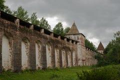 修道院的墙壁 库存图片